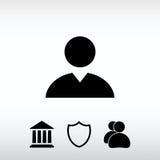 Εικονίδιο επιχειρησιακών ατόμων, διανυσματική απεικόνιση Επίπεδο ύφος σχεδίου Στοκ Εικόνα