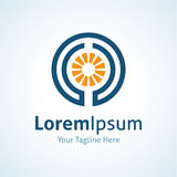 Εικονίδιο επιχειρησιακών λογότυπων καινοτομίας ενεργειακής δύναμης Στοκ Εικόνες