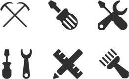 Εικονίδιο εργαλείων καθορισμένο - διάνυσμα στοκ εικόνα με δικαίωμα ελεύθερης χρήσης