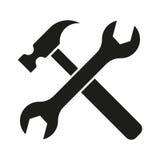Εικονίδιο εργαλείων σφυριών turnscrew Στοκ φωτογραφία με δικαίωμα ελεύθερης χρήσης