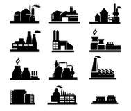 Εικονίδιο εργοστασίων στοκ εικόνες