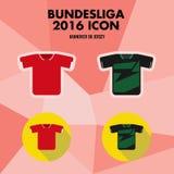 Εικονίδιο λεσχών ποδοσφαίρου Bundesliga Απεικόνιση αποθεμάτων