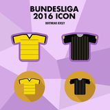 Εικονίδιο λεσχών ποδοσφαίρου Bundesliga Διανυσματική απεικόνιση