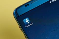 Εικονίδιο εφαρμογής Facebook Στοκ εικόνες με δικαίωμα ελεύθερης χρήσης