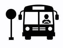 Εικονίδιο λεωφορείων Στοκ Φωτογραφίες