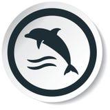 Εικονίδιο δελφινιών Στοκ εικόνες με δικαίωμα ελεύθερης χρήσης
