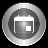 Εικονίδιο ημερήσιων διατάξεων σε έναν κύκλο που απομονώνεται σε ένα μαύρο υπόβαθρο Στοκ Εικόνες