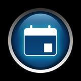 Εικονίδιο ημερήσιων διατάξεων σε έναν κύκλο που απομονώνεται σε ένα μαύρο υπόβαθρο Στοκ Φωτογραφίες