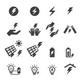 Εικονίδιο ηλεκτρικής ενέργειας Στοκ εικόνες με δικαίωμα ελεύθερης χρήσης