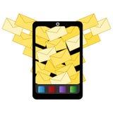 Εικονίδιο ηλεκτρονικού ταχυδρομείου Spam απεικόνιση αποθεμάτων