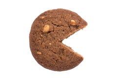 Εικονίδιο διαγραμμάτων πιτών που γίνεται από το μπισκότο, που απομονώνεται στο άσπρο υπόβαθρο Στοκ Εικόνες