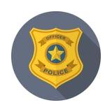 Εικονίδιο διακριτικών αστυνομίας απεικόνιση αποθεμάτων