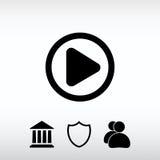 Εικονίδιο Ιστού κουμπιών παιχνιδιού, διανυσματική απεικόνιση Επίπεδο ύφος σχεδίου Στοκ εικόνες με δικαίωμα ελεύθερης χρήσης