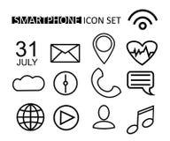 Εικονίδιο Ιστού περιλήψεων που τίθεται για Smartphone, έξυπνο ρολόι, Ιστός, Διαδίκτυο Διανυσματικά αντικείμενα σχεδίου Κουμπιά γρ Στοκ εικόνες με δικαίωμα ελεύθερης χρήσης