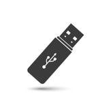 Εικονίδιο κίνησης USB λάμψης διανυσματική απεικόνιση
