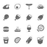 Εικονίδιο καθορισμένο - τρόφιμα απεικόνιση αποθεμάτων
