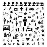 Εικονίδιο και νοσοκομείο γιατρών ελεύθερη απεικόνιση δικαιώματος