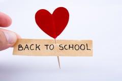 Εικονίδιο και σχολείο καρδιών Στοκ εικόνες με δικαίωμα ελεύθερης χρήσης