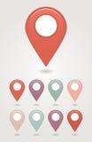 Εικονίδιο καρφιτσών χαρτογράφησης Στοκ Εικόνες