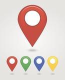 Εικονίδιο καρφιτσών χαρτογράφησης Στοκ εικόνα με δικαίωμα ελεύθερης χρήσης