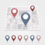 Εικονίδιο καρφιτσών χαρτογράφησης Στοκ φωτογραφίες με δικαίωμα ελεύθερης χρήσης