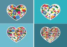 Εικονίδιο καρδιών και σύμβολο καρδιών απεικόνιση αποθεμάτων