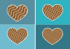 Εικονίδιο καρδιών και σύμβολο καρδιών διανυσματική απεικόνιση