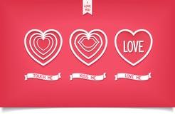 Εικονίδιο καρδιών σχεδίου με την αγάπη μηνυμάτων Στοκ εικόνα με δικαίωμα ελεύθερης χρήσης