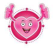 Εικονίδιο καρδιών χαμόγελου κινούμενων σχεδίων Στοκ εικόνα με δικαίωμα ελεύθερης χρήσης