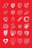 εικονίδιο καρδιών Στοκ Εικόνα