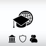 Εικονίδιο κατάρτισης Διαδικτύου, διανυσματική απεικόνιση Επίπεδο ύφος σχεδίου Στοκ φωτογραφία με δικαίωμα ελεύθερης χρήσης