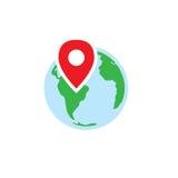 Εικονίδιο καταγωγής ή γενεαλογίας με τη γη & ακριβής Στοκ εικόνα με δικαίωμα ελεύθερης χρήσης