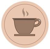 Εικονίδιο καφέ Στοκ Εικόνα