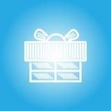 Εικονίδιο κιβωτίων δώρων για το χρόνο εορτασμού Στοκ φωτογραφία με δικαίωμα ελεύθερης χρήσης