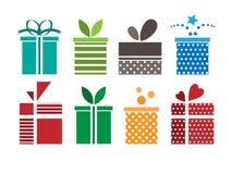 Εικονίδιο κιβωτίων δώρων Στοκ εικόνα με δικαίωμα ελεύθερης χρήσης