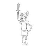 Εικονίδιο κινούμενων σχεδίων ιπποτών Στοκ Φωτογραφίες