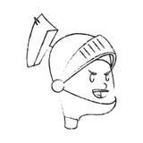 Εικονίδιο κινούμενων σχεδίων ιπποτών Στοκ εικόνα με δικαίωμα ελεύθερης χρήσης