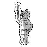 Εικονίδιο κινούμενων σχεδίων ιπποτών Στοκ φωτογραφίες με δικαίωμα ελεύθερης χρήσης