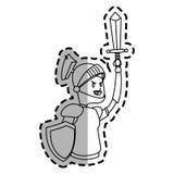 Εικονίδιο κινούμενων σχεδίων ιπποτών Στοκ Εικόνες