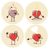 Εικονίδιο κινούμενων σχεδίων καρδιών Επίθεση καρδιών, μια δήλωση της αγάπης, educati Στοκ Εικόνες