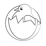 Εικονίδιο κοτόπουλου Στοκ Εικόνα