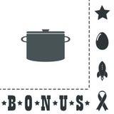 Εικονίδιο κουζινών του τηγανιού Στοκ εικόνες με δικαίωμα ελεύθερης χρήσης