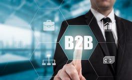 Εικονίδιο κουμπιών Ιστού Τύπου χεριών επιχειρηματιών b2b Στοκ φωτογραφία με δικαίωμα ελεύθερης χρήσης