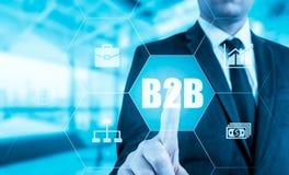 Εικονίδιο κουμπιών Ιστού Τύπου χεριών επιχειρηματιών b2b Στοκ εικόνες με δικαίωμα ελεύθερης χρήσης