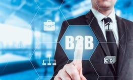 Εικονίδιο κουμπιών Ιστού Τύπου χεριών επιχειρηματιών b2b Στοκ Εικόνες