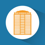 Εικονίδιο κτηρίου και πύργων Σχέδιο πόλεων σαν διανυσματικά κύματα στροβίλου ανασκόπησης διακοσμητικά γραφικά τυποποιημένα Στοκ φωτογραφίες με δικαίωμα ελεύθερης χρήσης