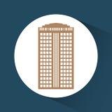 Εικονίδιο κτηρίου και πύργων Σχέδιο πόλεων σαν διανυσματικά κύματα στροβίλου ανασκόπησης διακοσμητικά γραφικά τυποποιημένα Στοκ φωτογραφία με δικαίωμα ελεύθερης χρήσης