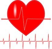 Εικονίδιο κτύπου της καρδιάς σφυγμού Στοκ φωτογραφίες με δικαίωμα ελεύθερης χρήσης