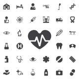 Εικονίδιο κτύπου της καρδιάς απεικόνιση αποθεμάτων