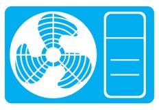 Εικονίδιο κλιματιστικών μηχανημάτων Στοκ Εικόνα
